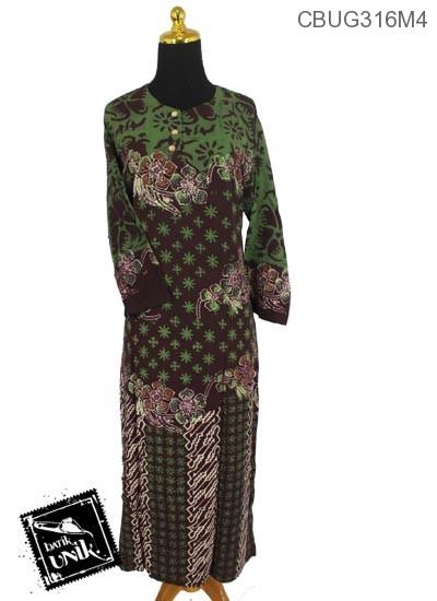 Baju Batik Longdress Motif Ceplok Ruji