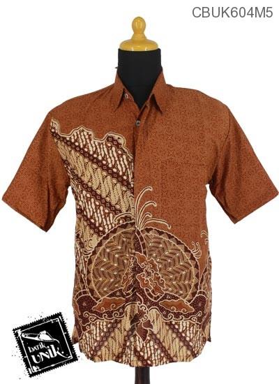 Baju Batik Kemeja Katun Motif Gelembung Pulau