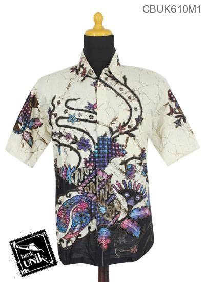Baju Batik Terbaru  Kemeja Motif Kembang Ceplok Runcing