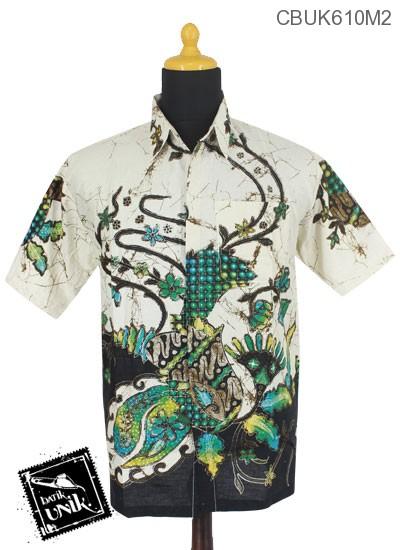 Baju Batik Kemeja Motif Kembang Ceplok Runcing