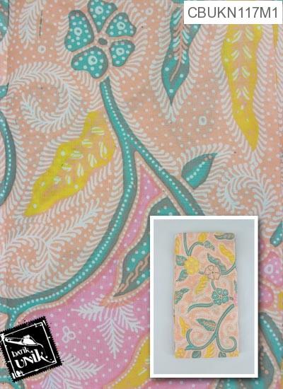 Kain Batik Terbaru  Printing Motif Bunga Kana Wulu