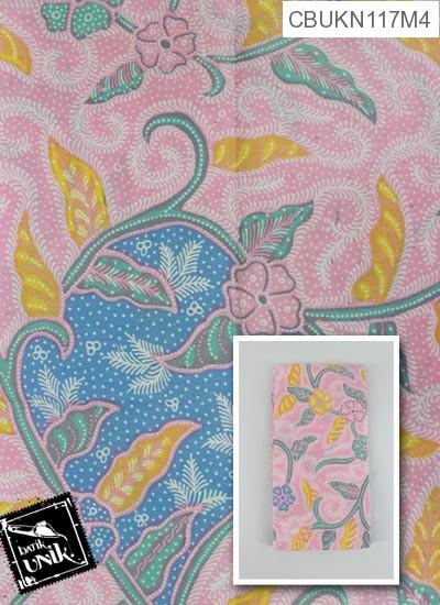 Kain Batik Printing Motif Bunga Kana Wulu