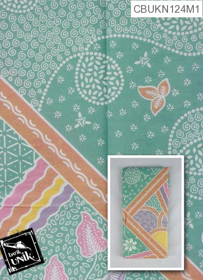 Kain Batik Terbaru  Printing Motif Taman Bunga Keyong