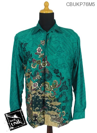 Baju Batik Kemeja Panjang Motif Mega Kembang Alas