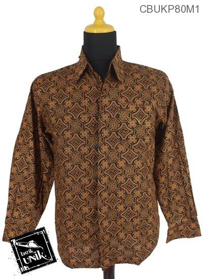 Baju Batik Terbaru  Kemeja Panjang Motif Capucino