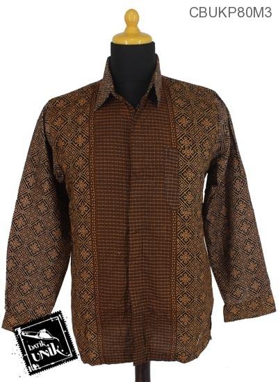 Baju Batik Kemeja Panjang Motif Capucino