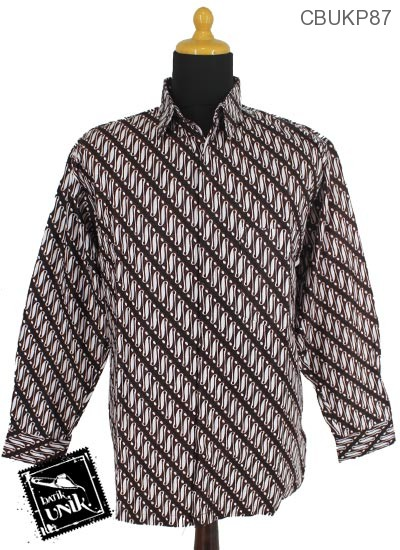 Kemeja Batik Panjang Motif Parang Peni