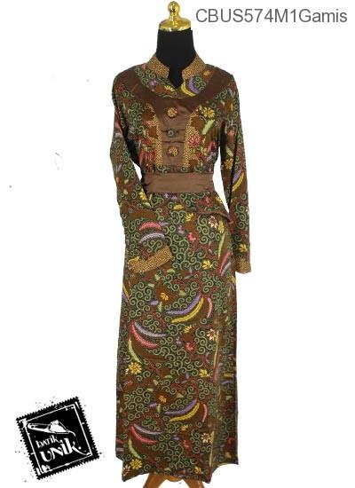Baju Batik Sarimbit Gamis Motif Songgo Langit Kembang