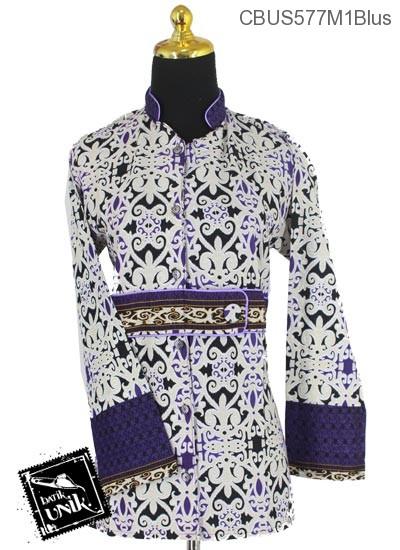 Baju Batik Terbaru  Sarimbit Blus Pekalongan Motif Asmad Jengking