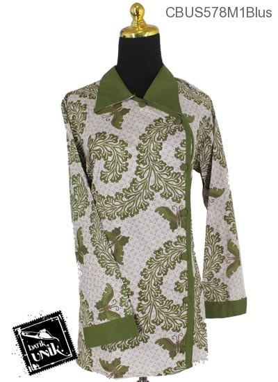 Baju Batik Terbaru  Sarimbit Blus Katun Motif Kupu Kembang Kol