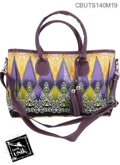 Tas Klincir Anyelir Motif Campuran Batik Warna