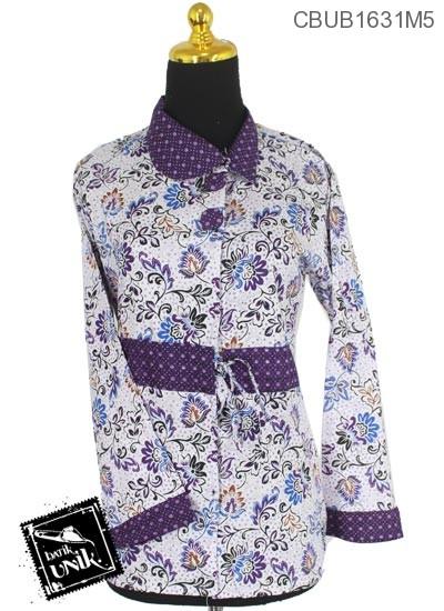 Blus Batik Panjang Motif Godhong Wiru Tumpal