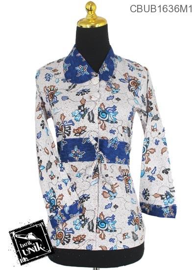 Blus Batik Terbaru  Panjang Motif Godhong Ronce