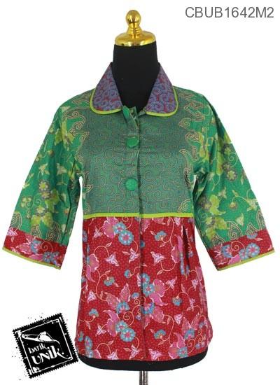 Baju Batik Blus Tanggung Motif Ranting Wulu Kembang