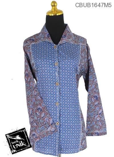 Baju Batik Blus Panjang Motif kembang Ragahina