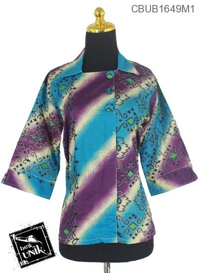 Blus Batik Terbaru  Tanggung Motif Gradasi Songket