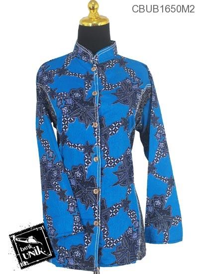 Baju Batik Blus Panjang Motif Godhong Jagad
