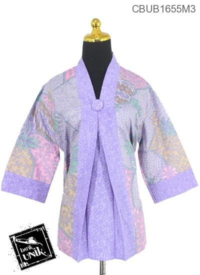 Baju Batik Blus Tanggung Motif Sisik Godhong Regolan