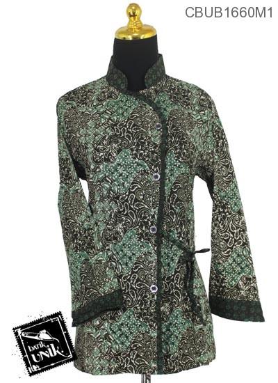 Blus Batik Terbaru  Panjang Katun Motif Klasik Ceplok Isi