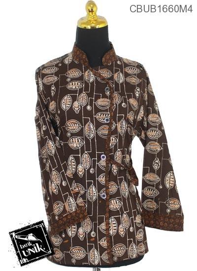 Blus Batik Panjang Katun Motif Klasik Ceplok Isi
