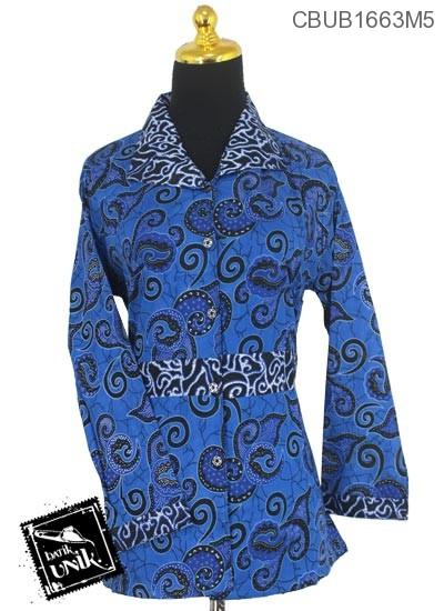 Baju Batik Blus Panjang Motif Wadas Grombol Uwer