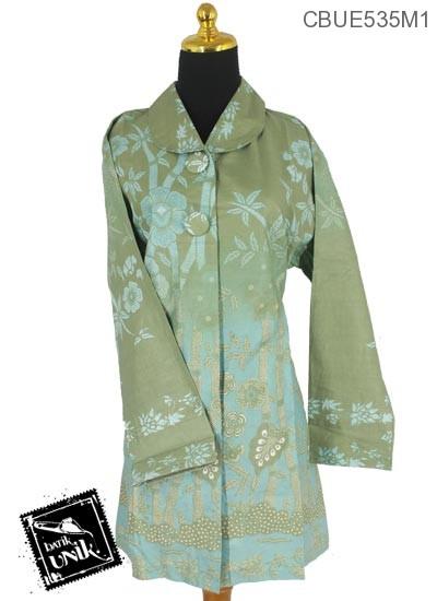Baju Batik Terbaru  Blus Panjang Motif Lawasan Warna