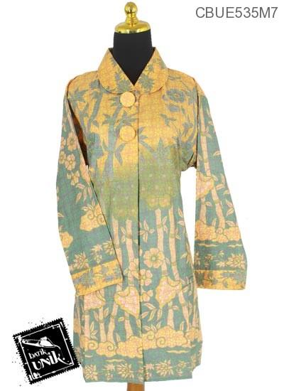 Baju Batik Blus Panjang Motif Lawasan Warna