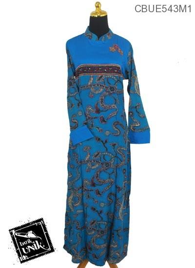 Baju Batik Terbaru  Gamis Motif Regolan Batang