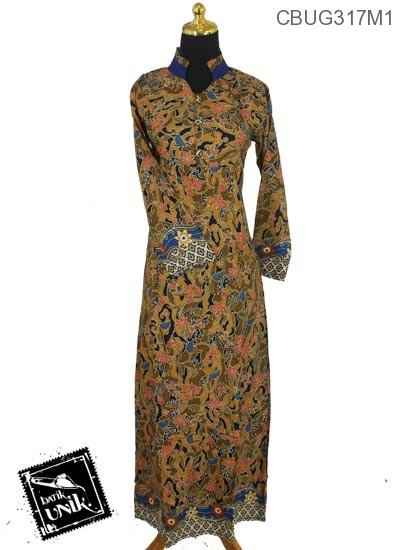 Baju Batik Terbaru  Gamis Motif Kembang Wadas
