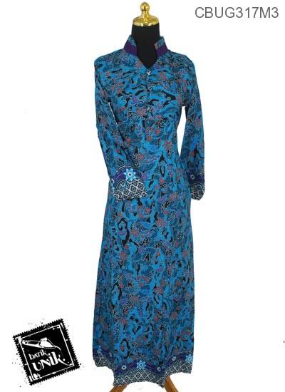 Baju Batik Gamis Motif Kembang Wadas