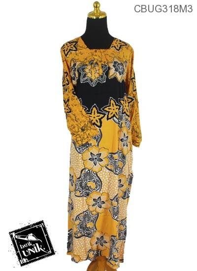 Longdress Batik Motif Kembang Gede Rangkaian