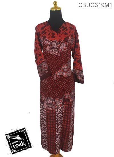 Baju Batik Terbaru  Longdress Motif Polkadot Ceplok