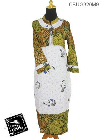 Baju Batik Gamis Motif Rantai Kembang Watu