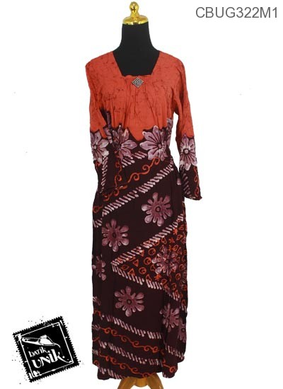 Baju Batik Terbaru  Longdress Motif Bunga Ceprot