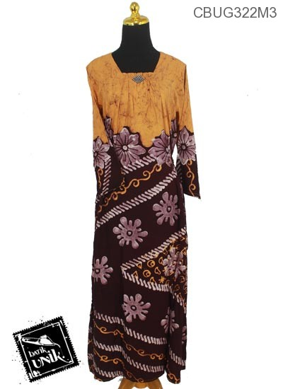 Baju Batik Longdress Motif Bunga Ceprot