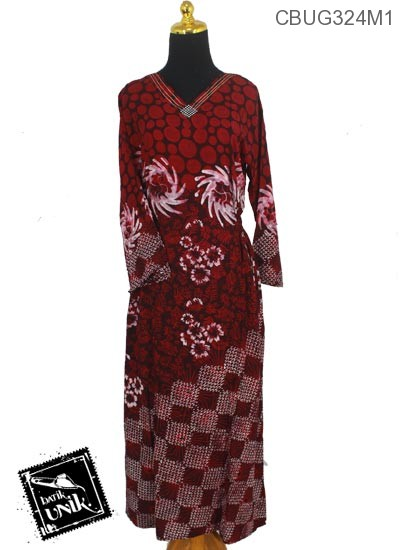 Longdress Batik Terbaru  Santhung Motif Watu Tumpuk