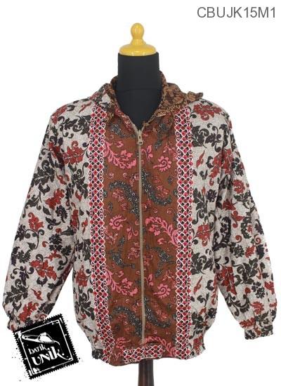 Jaket Bolak Balik Katun Motif Kotemporer Sumringah