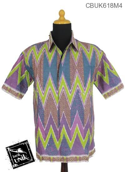 Kemeja Batik Katun Motif Rang Rang Ukir