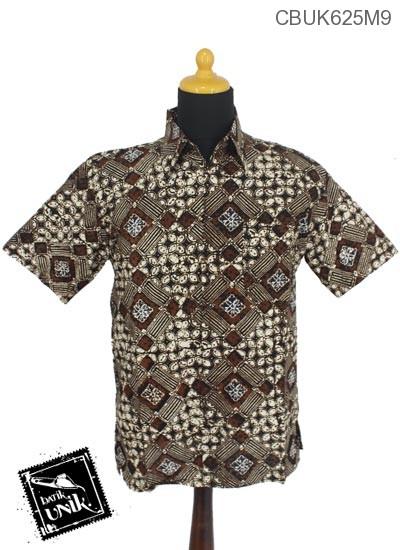 Kemeja Batik Motif Sogan Batangan