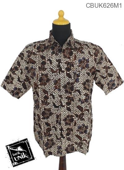 Baju Batik Terbaru  Kemeja Motif Sogan Batangan XXL