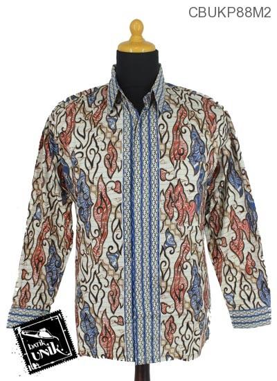 Baju Batik Kemeja Panjang Motif Mego Alas