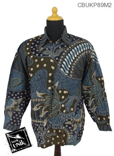 Kemeja Batik Panjang Motif Kuncup Teruntum