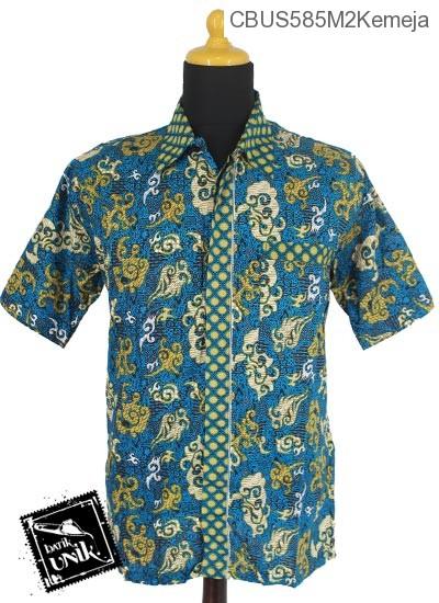 Baju Batik Sarimbit Kemeja Katun Motif Godhong Warna Alas