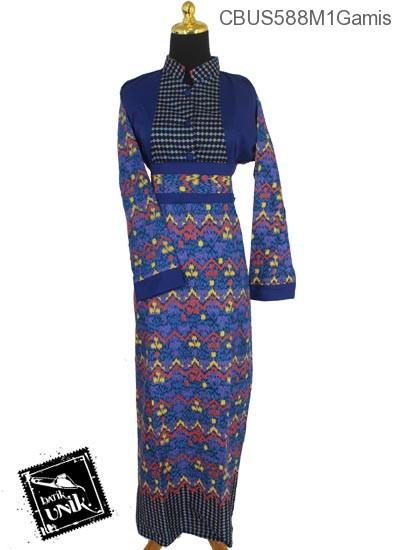 Baju Batik Terbaru  Sarimbit Gamis Motif Gunungan Manik Mumet