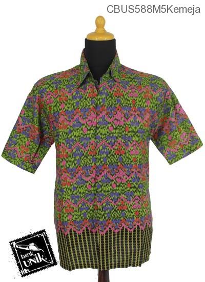 Baju Batik Sarimbit Kemeja Motif Gunungan Manik Mumet