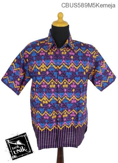 Baju Batik Sarimbit Kemeja Motif Gunung Mumet Abstrak