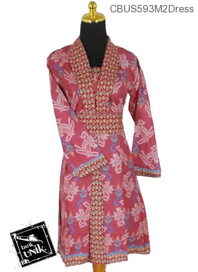 Sarimbit Dress Motif Salur Songket Bunga
