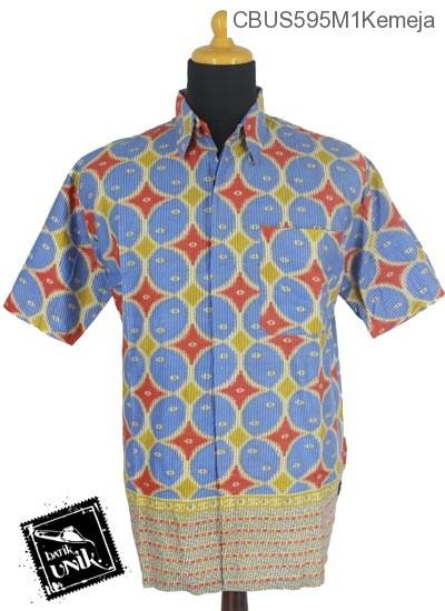 Baju Batik Terbaru  Sarimbit Kemeja Katun Motif Kawung Beton Tumpal