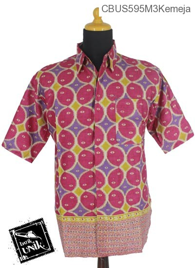 Baju Batik Sarimbit Kemeja Katun Motif Kawung Beton Tumpal