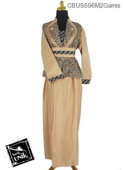 Baju Batik Sarimbit Gamis Motif Godhong Alas Mego